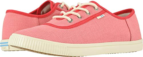 TOMS Women's Carmel Strawberry Milkshake Heritage Canvas 7.5 B US -