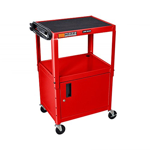 Luxor Multipurpose Height Adjustable Steel AV Utility Cabinet Cart - (Steel Welded Multimedia Cabinet)