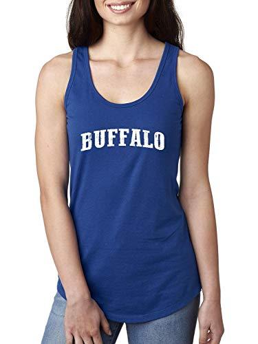 City of Buffalo New York Traveler`s Gift Women's Racerback Tank Top (2XLRB) Royal -