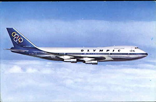 Olympic Airways Boeing 747-200 B Jumbo Jet Aircraft Original Vintage - Aircraft Airways Jet