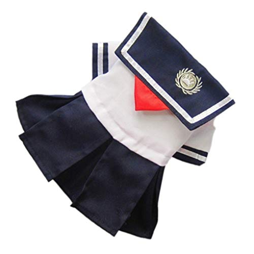 YOTATO Summer Pleated Sailor Stripes Dog Dresses Pet Princess Clothing Costume Dog Supplies Fashion Young Style
