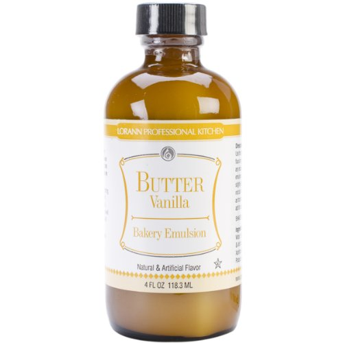 Butter Extract (LorAnn Oils Emulsion, Butter Vanilla, 4 Ounce)