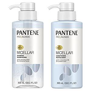 Pantene 2 Piece Pro-V Blends Micellar Gentle Cleansing Water Shampoo and Moisturizing Milk Conditioner Set