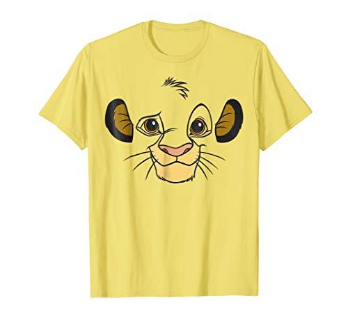 Disney Lion King Simba Face Halloween Graphic T-Shirt]()
