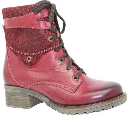 Print Flower Print Boot Women's Lace Dromedaris Red Up Kara qFnp4x8H