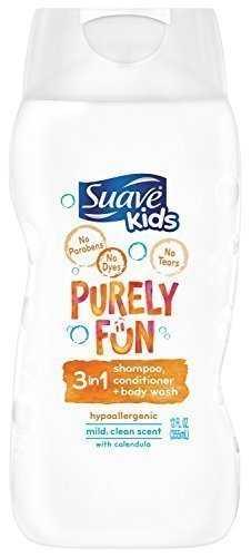 Suave Kids 3-in-1 Shampoo/Conditioner and Body Wash, Purely Fun, 12 Ounce (3 PACK)