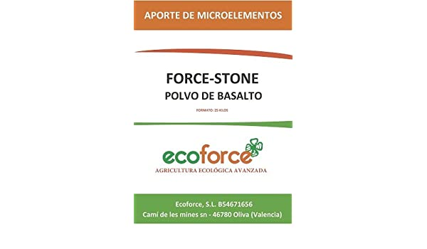 cultivers by ecoforce Force Stone, harina de Roca (Polvo de basalto) Big Bag 1000KG: Amazon.es: Jardín