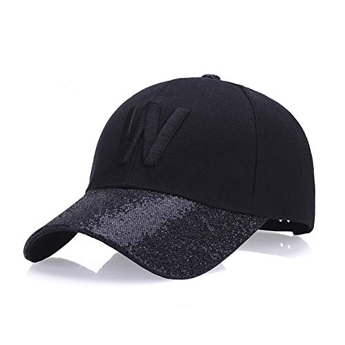 MKJNBH Baseball Cap Hat Fashion Ladies Outdoor Baseball Cap Autumn Winter Hair Green Sunscreen Visor Casual Cap ()