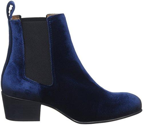 Selected Femme Women's SFLONDON Velvet Boot Chelsea Boots Blue - Blau (Dark Navy) kOipm4PGs9