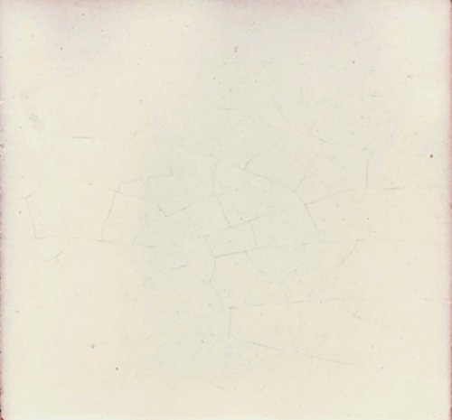 (Rustico Tile and Stone TR4MXWHITE Mexican White Painted Tile, 4