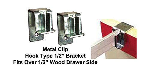 Hook type file bracket clips (4 per pkg) #5000 by File Bar Factory