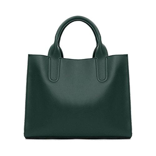 sakutane femmes sac à main grand sac en cuir de sac à main vintage fait main pour le travail vert foncé 80