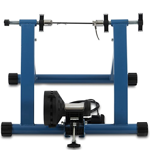 Akonza Indoor Cycling Bicycle Magnetic Trainer W/ Seven Levels Of Resistance Exercise Stand Blue