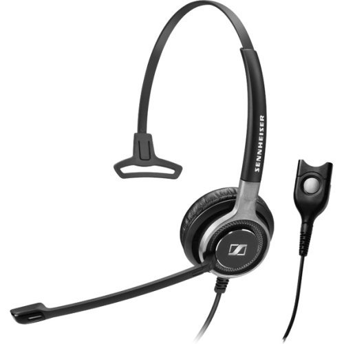 Sennheiser Professional Headset - Call Center, Office Headset - Mono - Black, Silver - Easy Disconnect - Wired - 200 Ohm - 50 Hz - 18 kHz - Over-the-head - Monaural - Supra-aural - 3.28 ft Cable - Noise Cancelling Microphone - 504556