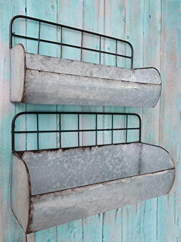 ShabbyDecor Galvanized Industrial Storage Shelves product image