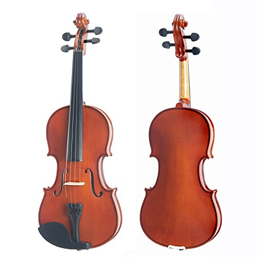 Mendini 16-Inch MA250 Natural Varnish Solid Wood Viola Designed for Beginners