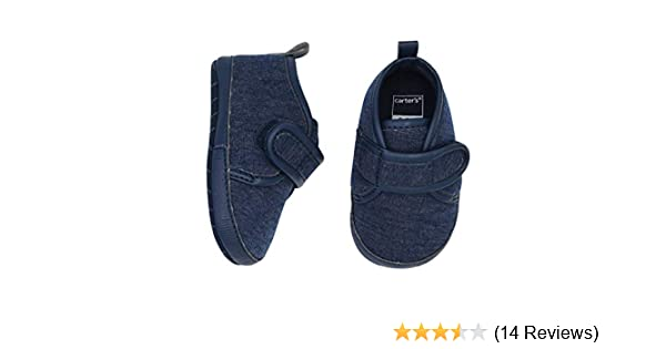 Carters Baby Boy Soft Sole Heathered Navy Low Top Sneaker 9-12 Months