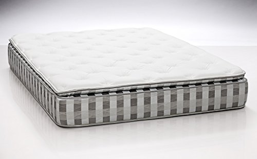 Dreamfoam Bedding Ultimate Dreams Crazy Quilt Pillow Top Mattress, Short Queen