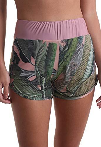Shorts Curto Flores e Plantas - Nude P