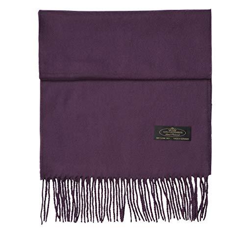 100% Cashmere Scarf Super Soft For Men And Women Warm Cozy Scarves Multiple Colors FHC Enterprize (Plum) ()