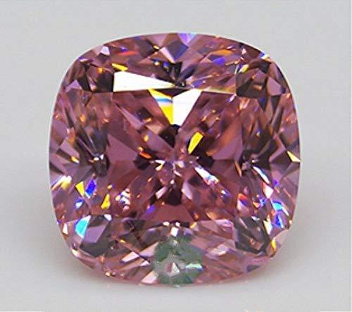 - FidgetKute 12.15CT Pink Sapphire 12MM Cushion Shape Color Loose Gemstone