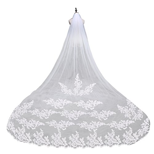 PIXNOR Wedding Tulle Bridal Embroidery