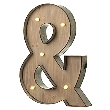 Marquee Vintage Light Up Letter & AND Illuminated Wall Sign LED
