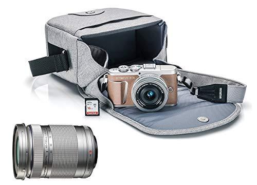 Camera Brown Digital - Olympus Pen E-PL9 Mirrorless Micro Four Thirds Digital Camera [Brown] + M.Zuiko Digital ED 14-42mm f/3.5-5.6 EZ Lens + M.Zuiko Digital ED 40-150mm f/4.0-5.6 R Lens