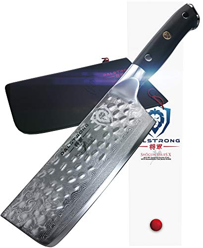 "DALSTRONG Nakiri Vegetable Knife - Shogun Series X - AUS-10-V - Hammered Finish - 6"" (152mm)"