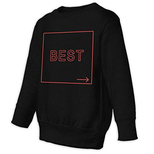 Xgbb Best Bitches Girlfriends Toddler Long Sleeve Pullover Sweatshirt Little Boys' Sweatshirt Black 5/6T