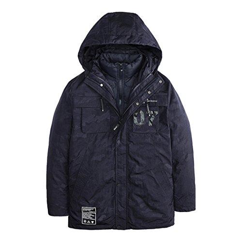 fashion coat blue slim The Korean of HHY winter men's version in down jacket Mianfu XXXL wZqvO0