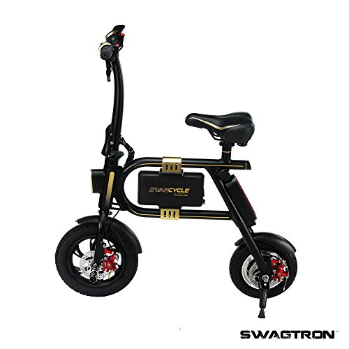 SWAGTRON SwagCycle E-Bike – Folding Electric Bicycle with...