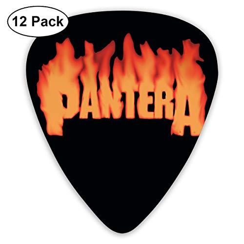 Grace Little Pantera Stylish Celluloid Guitar Picks Plectrums for Guitar Bass 12 Pack
