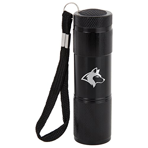 Siberian Husky 9-Led Flashlight With Strap - Black Flashlight - Laser Engraved Design - Led Flashlight Keychain - Gift For All Occasions