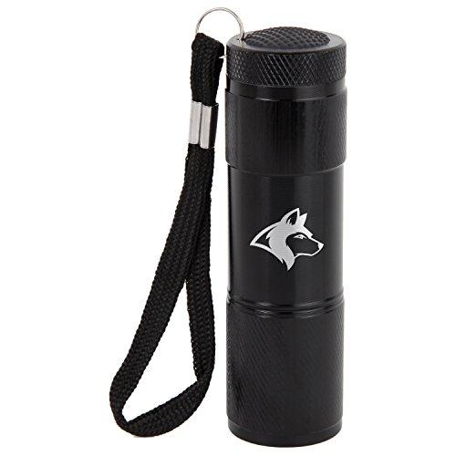 Siberian Husky 9-Led Flashlight With Strap - Black Flashlight - Laser Engraved Design - Led Flashlight Keychain - Gift For All (Best Husky Key Chain Flashlights)