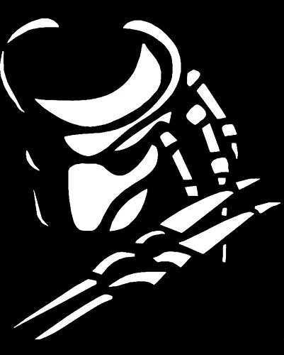 Predator face vinyl decal stickercars trucks vans walls laptopswhite5 in