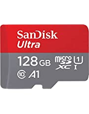 SanDisk 128GB Ultra microSDXC UHS-I Memory Card with Adapter - 120MB/s, C10, U1, Full HD, A1, Micro SD Card - SDSQUA4-128G-GN6MA
