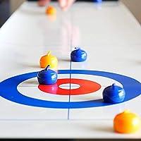 Juego de curling de mesa plegable, juegos de mesa de equipo portátiles, juegos de mesa de entrenamiento para fiestas familiares, rompecabezas, divertido juego educativo, regalo para niños y adultos: Amazon.es: Hogar