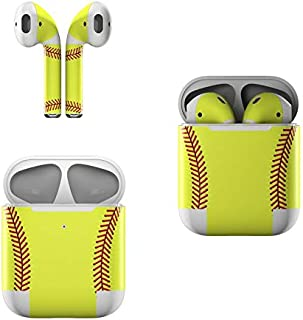 product image for Skin Decals for Apple AirPods - Softball - Sticker Wrap Fits 1st and 2nd Generation