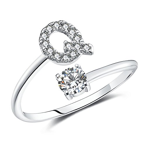 FAURORA Rings for Women Initial Ring Letter Ring A-Z for sale  Delivered anywhere in USA