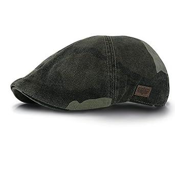 9823477a5b528 EmejiaSales Duck Mesh Summer Gatsby cotton Cap Mens Ivy Hat Golf Driving  Sun Flat Cabbie Newsboy (WHITE) at Amazon Men s Clothing store