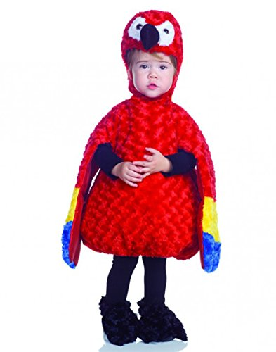 Underwraps Costumes Baby's Parrot Belly-Babies, Red/Yellow/Blue, X-Large