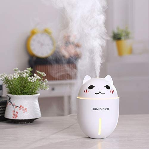 LED Lights USB Ultrasonic Humidifier Aroma Essential Oil Diffuser Air Purifier