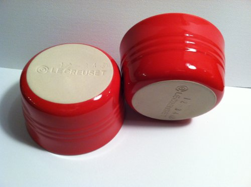 Le Creuset Stoneware Set of Two French Ramekins, 7 3/4 Oz., Chili Red