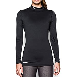 Under Armour Women's ColdGear Authentics Mock, Black/Metal, Small