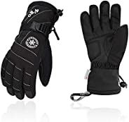 Vgo -20℃/-4℉ or Above 3M Thinsulate G80 Lined Women's Skiing Gloves, Snowboarding Gloves, Winter Warm Glov