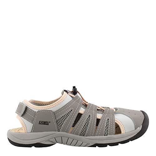 Khombu Women's, Cameron Sandals Grey Pink 9 M