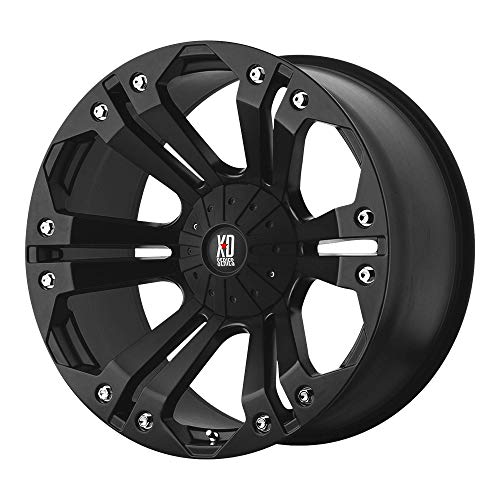 XD SERIES BY KMC WHEELS MONSTER MATTE BLACK MONSTER 18x9 6x135.00/6x139.70 MATTE BLACK (-12 mm)