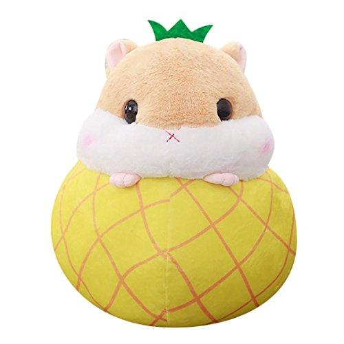 Auwer Plush Stuffed Toys,Cute Hamster Plush Stuffed Animal Toys Fruit Hamster Kawaii Stress Reliever Toy For Kids Gift (C)