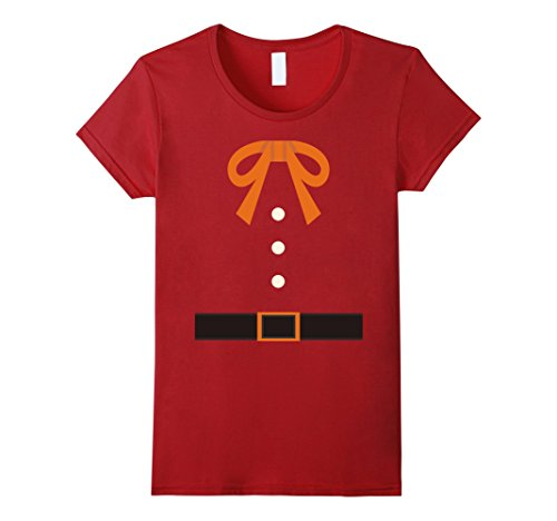 Pilgrim Outfit T-shirt Colonial Thanksgiving Funny Bow Belt